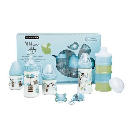 Coffret biberons Welcome Baby - Turquoise
