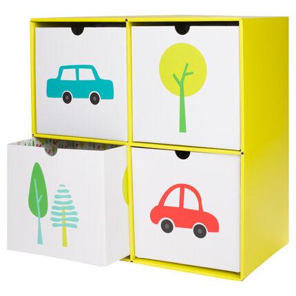 cube de stockage en carton 4 tiroirs orchestra fr. Black Bedroom Furniture Sets. Home Design Ideas