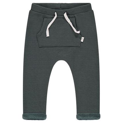 Pantalon de jogging en molleton esprit sarouel doublé sherpa