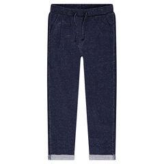 Pantalon de jogging en molleton mélangé de fils argentés