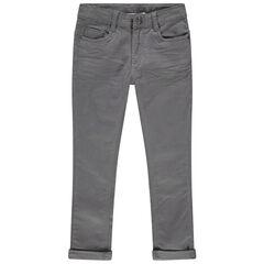 Pantalon en twill à poches effet used et crinkle , Orchestra