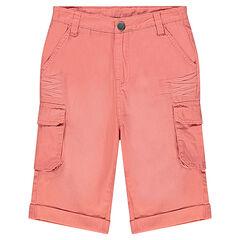 Junior - Bermuda en twill effet crinkle avec poches