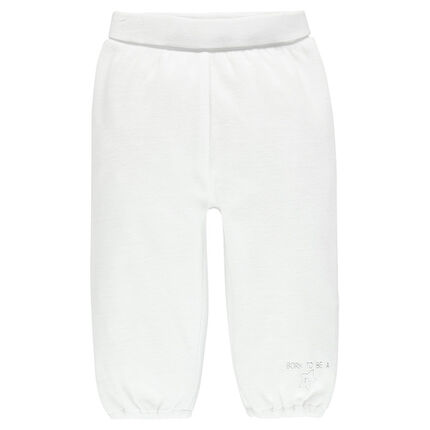 Pantalon en velours à taille élastiquée