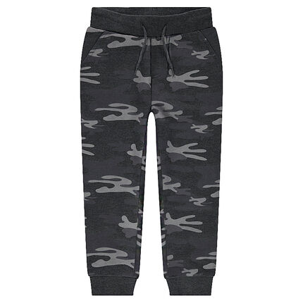 Pantalon de jogging en molleton motif army all-over