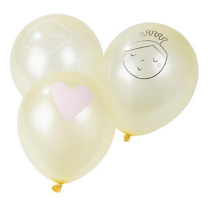 Lot de 10 ballons d'anniversaire gonflables princesse