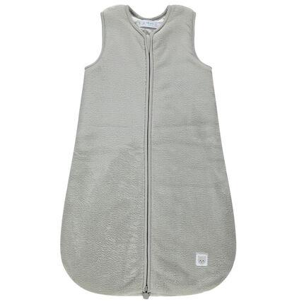 Turbulette sans manches en sherpa fine doublée jersey