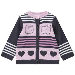 Gilet en tricot à motifs fantaisies