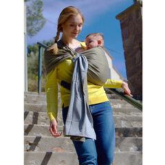 Echarpe de portage sans noeud - Chiné/Olive sans pad
