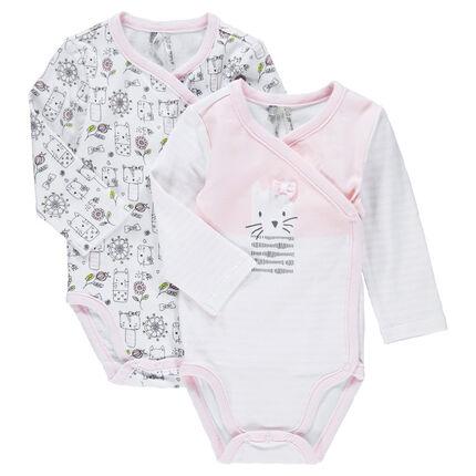Lot de 2 bodies naissance en jersey imprimé / printé