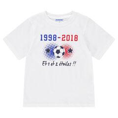 Tee-shirt 2 étoiles enfant manches courtes COUPE DU MONDE DE FOOTBALL 2018 – France