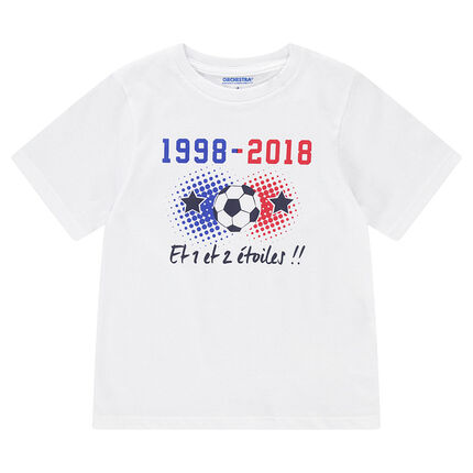 ad47fea7158a7 Tee-shirt 2 étoiles enfant manches courtes COUPE DU MONDE DE FOOTBALL 2018  – France