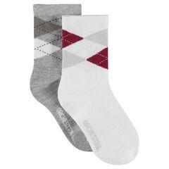 Lot de 2 paires de chaussettes assorties motif jacquard