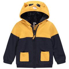 Veste à capuche en tricot doublée sherpa pour bébé garçon , Orchestra
