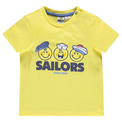 Tee-shirt manches courtes print ©Smiley