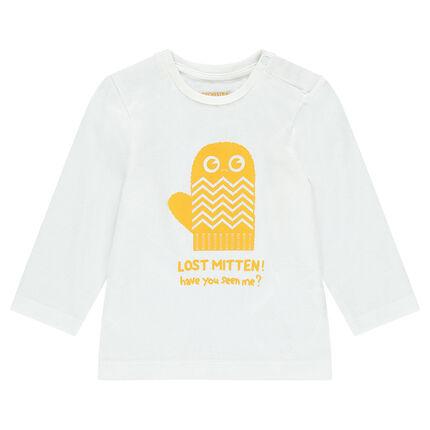 Tee-shirt manches longues en jersey avec gant printé
