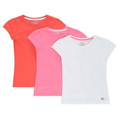 010f6b827e66b Lot de 3 tee-shirts manches courtes en jersey unis