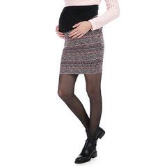 Jupe de grossesse en jacquard avec bandeau haut