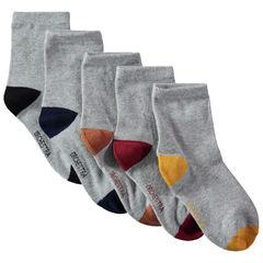 Lot de 5 paires de chaussettes à bout et talon contrastés