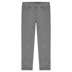 Junior - Jegging imprimé en velours