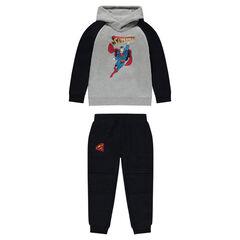 Jogging en molleton bicolore print ©Warner Superman