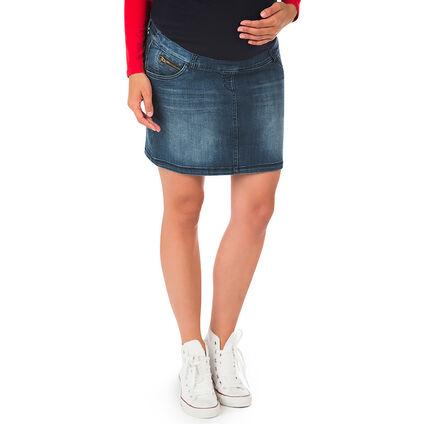 Jupe en jeans de grossesse effect used et crinkle