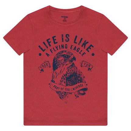 Tee-shirt manches courtes en jersey avec aigle printé