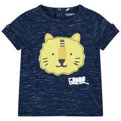 T-shirt manches courtes à tigre patché