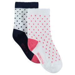 Lot de 2 paires de chaussettes assorties à pois all-over