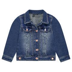 a37823687c661 Veste en molleton effet jeans