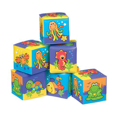 Jouet de bain 1er age Soft Blocks