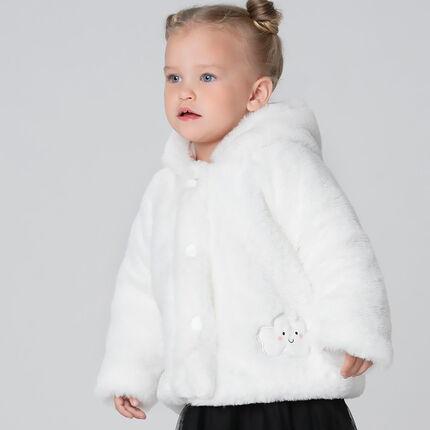 Veste en sherpa à capuche avec doublure en jersey imprimée