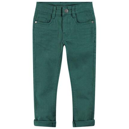 Junior - Pantalon en twill surteint avec poche fantaisie au dos