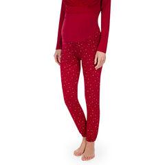 Pantalon homewear de grossesse avec pois all-over