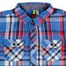 Chemise manches longues à grands carreaux contrastés