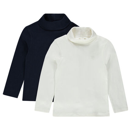 Lot de 2 sous-pulls unis en jersey