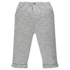 Pantalon en molleton twisté avec taille élastiquée