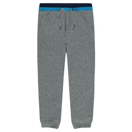 Pantalon de jogging en molleton uni avec jeu de découpes