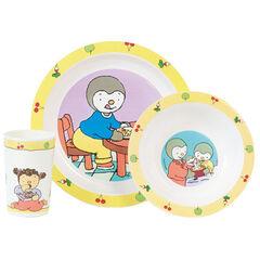 Set repas T'Choupi - 3 pièces