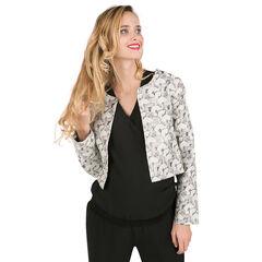 Veste de tailleur à motif jacquard effet brillant