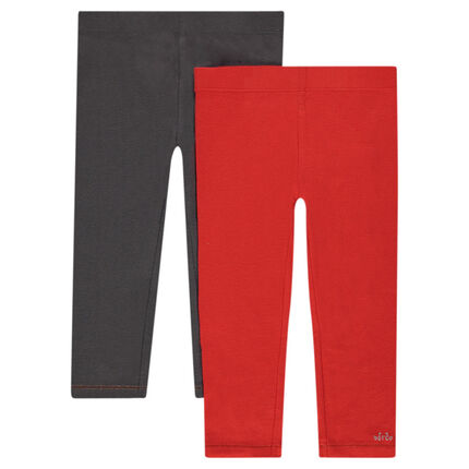 Lot de 2 leggings unis