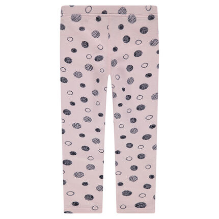Legging en jersey à pois all-over