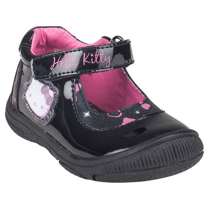 Babies noires vernies Hello Kitty