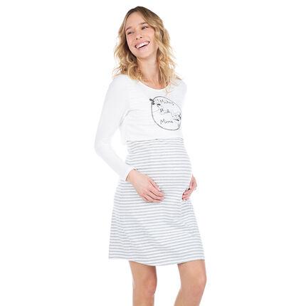 Chemise de nuit de grossesse effet 2 en 1 avec print Mickey et Minnie ©Disney