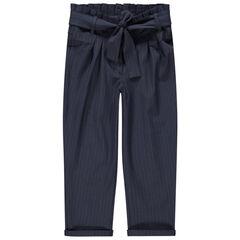 Pantalon carotte avec liens à nouer