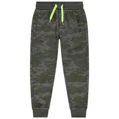Pantalon de jogging en molleton à motif camouflage