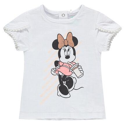 Tee-shirt en coton organique print Minnie Disney