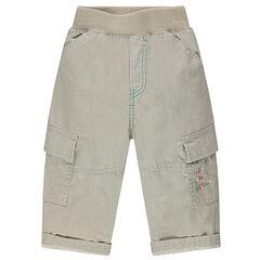 Pantalon uni multipoches