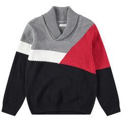 Pull en tricot à motif géométrique en jacquard