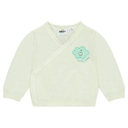Brassière en tricot avec badge nuage ©Smiley Baby