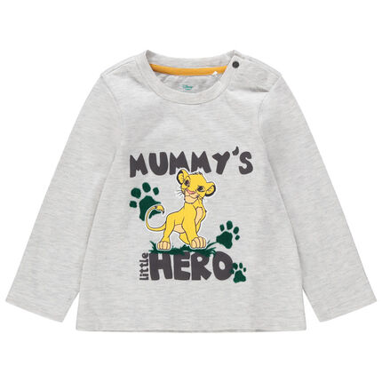 T-shirt manches longues en jersey print Simba Roi Lion Disney